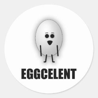 EGGCELENT CLASSIC ROUND STICKER