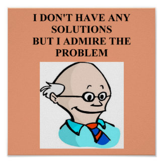 egghead professor problem poster