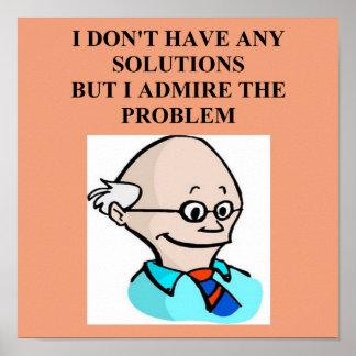 egghead professor problem poster