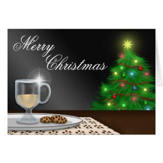 Eggnog and Cookies Christmas Greeting Card