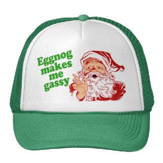 Eggnog Makes Santa Fart Cap
