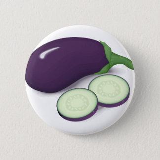 Eggplant 6 Cm Round Badge