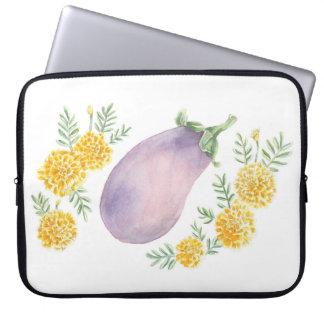 Eggplant and Marigold Laptop Sleeve