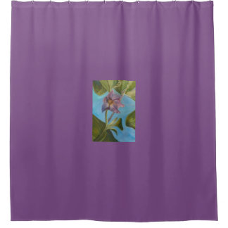 Eggplant Blossom 2 Shower Curtain