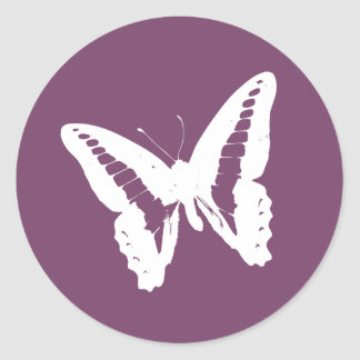 Eggplant Butterfly Envelope Sticker Seal