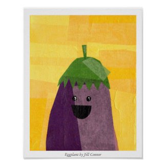 Eggplant by Jill Connor Poster