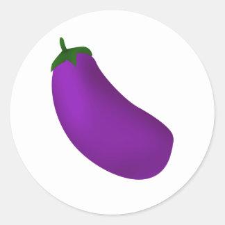 Eggplant Classic Round Sticker