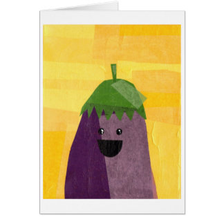 Eggplant greeting card