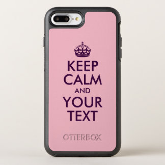 Eggplant Keep Calm and Your Text OtterBox Symmetry iPhone 8 Plus/7 Plus Case