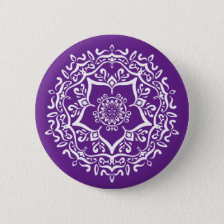 Eggplant Mandala 6 Cm Round Badge