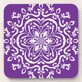Eggplant Mandala Coaster