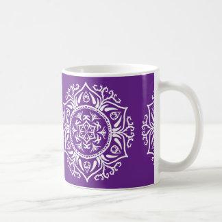 Eggplant Mandala Coffee Mug