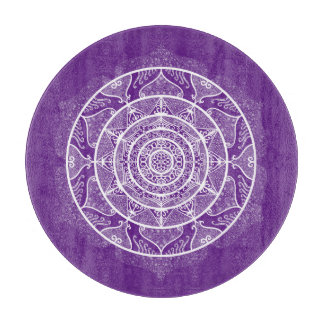 Eggplant Mandala Cutting Board