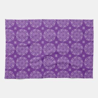 Eggplant Mandala Tea Towel