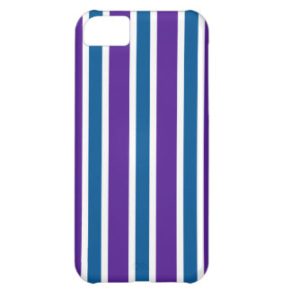 Eggplant & Ocean Stripes iPhone 5C Cover