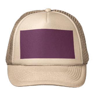 Eggplant purple template to personalize Customize Cap