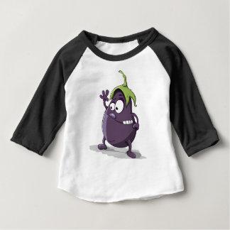 Eggplant Purple Vegetable Eyed Toothy Cartoon Baby T-Shirt