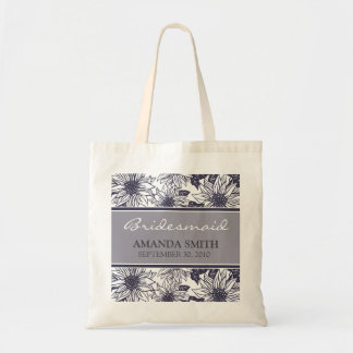 Eggplant Sunflowers Personalized Wedding Party Bag