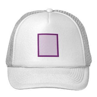 Eggplant Tone on Tone Hibiscus Mesh Hats