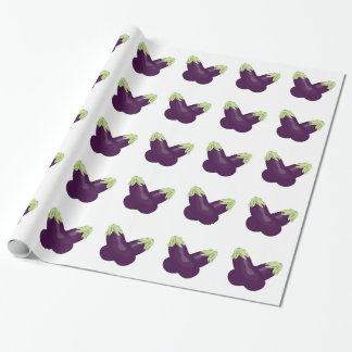 Eggplant Wrapping Paper
