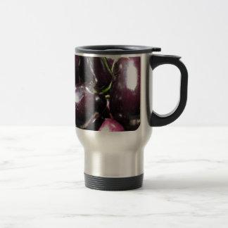 Eggplants background travel mug