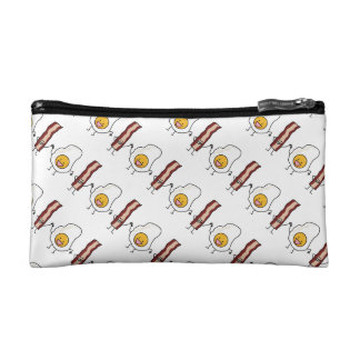 Eggs and Bacon Strips Combo Egg Breakfast Makeup Bags
