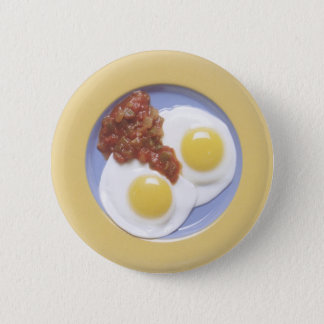Eggs and Salsa 6 Cm Round Badge