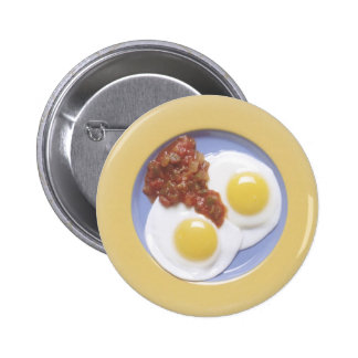 Eggs and Salsa 6 Cm Round Badge