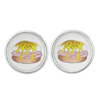 Eggs Benedict Breakfast Diner Food Foodie Ham Gift Cufflinks