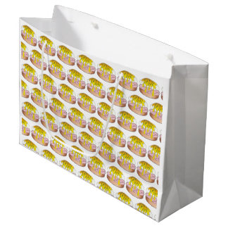 Eggs Benedict Breakfast Diner Food Foodie Ham Large Gift Bag