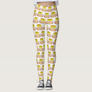 Eggs Benedict Diner Breakfast Food Egg Foodie Leggings