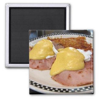 eggs benedict square magnet