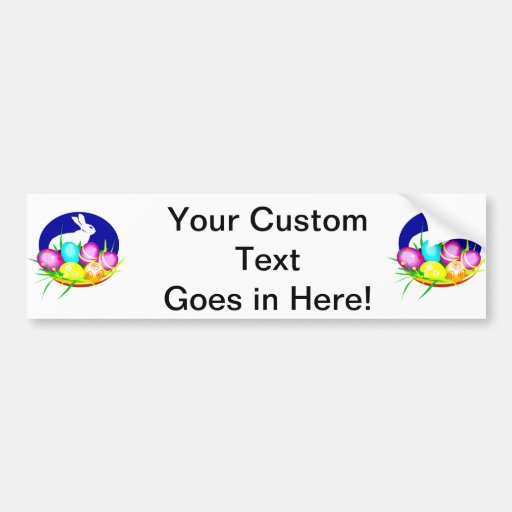 Eggs bunny blue oval graphic.png bumper sticker