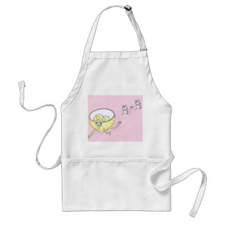 Eggs Chasing a Bowl Apron