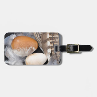 Eggs & feathers luggage tag
