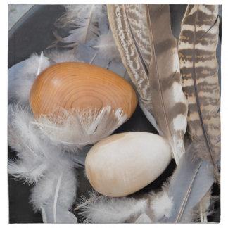 Eggs & feathers napkin