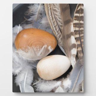 Eggs & feathers plaque