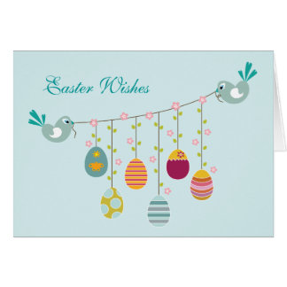 Eggs Mobile Easter Greeting Card