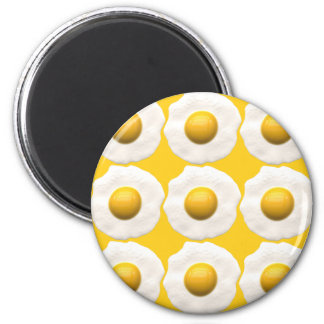 Eggs Over Easy 6 Cm Round Magnet