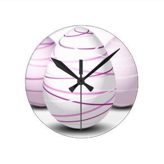Eggs Round Clock