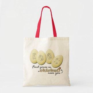 Eggs slogan Tote