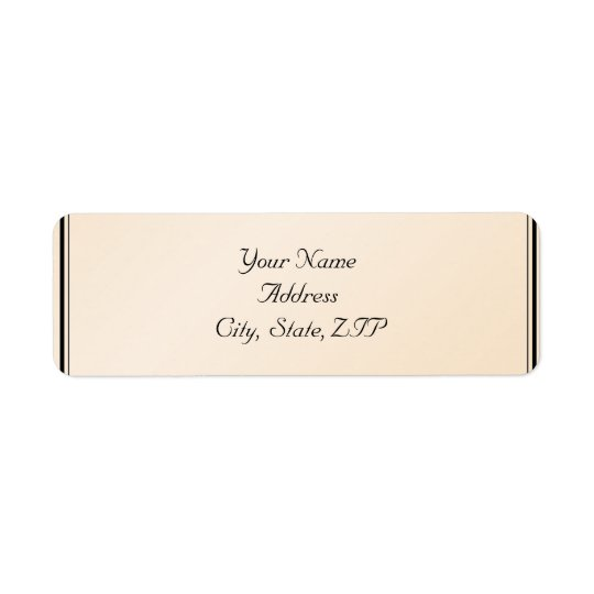 Eggshell Elegance Return Address Return Address Label