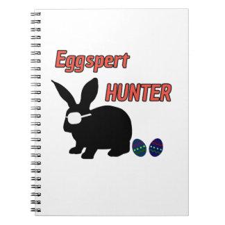 Eggspert Egg Hunter Easter Boys Girls Cool Bunny Notebook