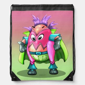 EGGTOR cute ALIEN CARTOON Drawstring Backpack