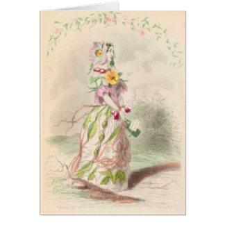 Eglantine Rose Girl Card