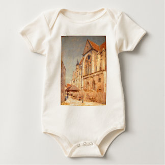 Eglise de Moret by Alfred Sisley Baby Bodysuit