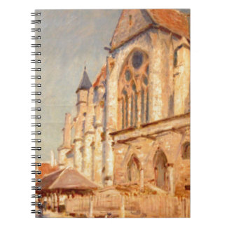 Eglise de Moret by Alfred Sisley Note Book