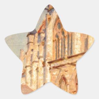 Eglise de Moret by Alfred Sisley Star Sticker