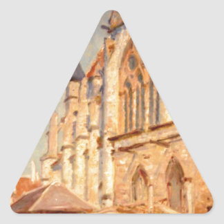 Eglise de Moret by Alfred Sisley Triangle Sticker
