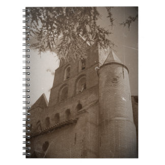 Eglise sepia spiral note books